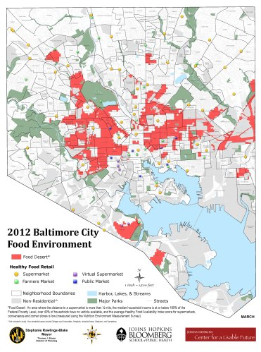 Food Desert Map of Baltimore City