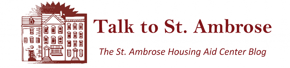 Talk to St. Ambrose