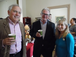 Board members David Wells and Jerry Geraghty with Aigburth interior designer Carol Currotto
